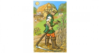 Boer in het veld / Farmer in field