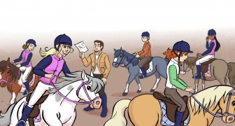 Vals spel in de manege / Cheating at the riding school